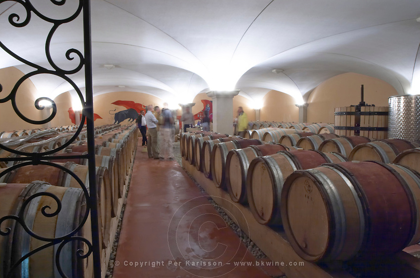 barrel aging cellar domaine gilles robin crozes hermitage rhone france