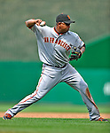 8 June 2008: San Francisco Giants' third baseman Jose Castillo makes a play at third against the Washington Nationals at Nationals Park in Washington, DC. The Giants rallied to defeat the Nationals 6-3 in their third consecutive win of the 4-game series...Mandatory Photo Credit: Ed Wolfstein Photo