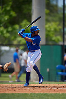 Dunedin Blue Jays Jesus Navarro (10) at bat during a Florida State League game against the Jupiter Hammerheads on May 16, 2019 at Jack Russell Memorial Stadium in Clearwater, Florida.  Dunedin defeated Jupiter 1-0.  (Mike Janes/Four Seam Images)