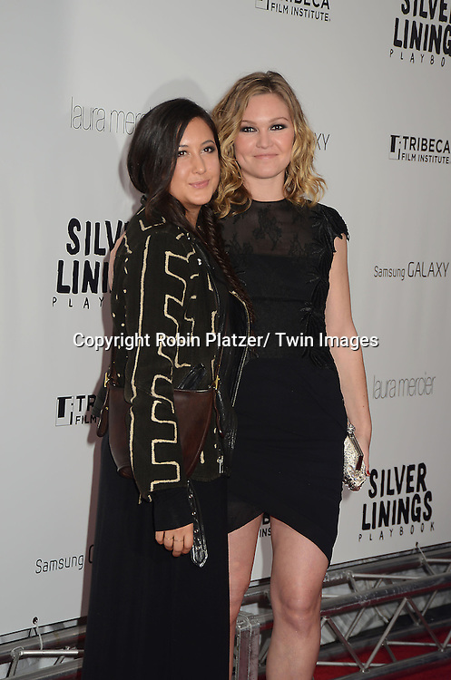 "Vanessa Carlton and Julia Stiles attend the New York Premiere of "" Silver Linings Playbook"" on November 12, 2012 at the Ziegfeld Theatre in New York City. The movie stars Bradley Cooper, Robert De Niro, Jacki Weaver, Chris Tucker, Julia Stiles, John Ortiz, Brea Bee, Anupam Kher, Shea Whigham and is directed by David O. Russell."