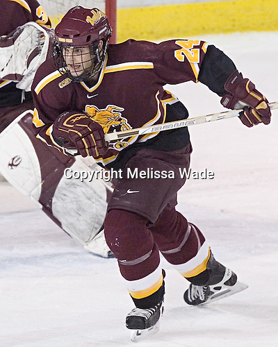 Jeremy Scherlinck - The Boston College Eagles and Ferris State Bulldogs tied at 3 in the opening game of the Denver Cup on Friday, December 30, 2005, at Magness Arena in Denver, Colorado.  Boston College won the shootout to determine which team would advance to the Final.