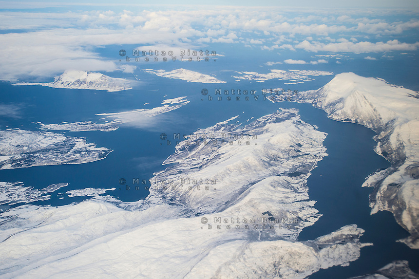 Norvegia nella foto veduta aerea geografico Bod&oslash; 16/02/2016 foto Matteo Biatta<br /> <br /> Lofoten Islands in the picture aerial view geographic Bod&oslash; 16/02/2016 photo by Matteo Biatta