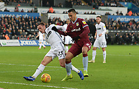 Aston Villa's Anwar El Ghazi battles with Swansea City's Connor Roberts<br /> <br /> Photographer Ian Cook/CameraSport<br /> <br /> The EFL Sky Bet Championship - Swansea City v Aston Villa - Wednesday 26th December 2018 - Liberty Stadium - Swansea<br /> <br /> World Copyright © 2018 CameraSport. All rights reserved. 43 Linden Ave. Countesthorpe. Leicester. England. LE8 5PG - Tel: +44 (0) 116 277 4147 - admin@camerasport.com - www.camerasport.com