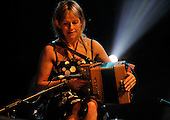 Ireland's folk star accordian player Sharron Shannon on stage tonight (Sunday) at the Old Fruitmarket Glasgow as part of Celtic Connections 2011 - Picture by Donald MacLeod - 23.1.11 - 07702 319 738 : clanmacleod@btinternet.com : www.donald-macleod.com