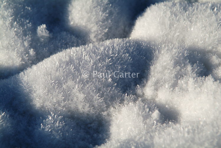 Close up of snow.