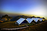 Tents set permanently for the guesthouse officials on the top of a hill in Bandarban, outskirts of Dhaka, Bangladesh.