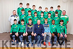 Kerry U15 Soccer Squad<br /> Seated l to r: Cianan Cooney, Lorcan Murphy, Greg McInnings, Danny Diggins (Manager), Liam Carmody, Samuel Aladesanusi, Oisin Wolfe.<br /> 2nd row l to r: Joby Costelloe (Goalkeeping Coach), Darragh O'Grady, Emmet Richter, Tom Whittleton, Andy Rogers, Conor Kerins, AJ Behan and Jimmy Clancy (Coach). <br /> Back row l to r: Sean Hill, Sean O'Connell, Roko Rujevtan, Darragh O'Shea, Ronan Teahan, Colin Doody, Oisin Collins,