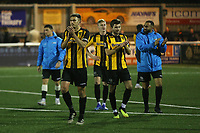 Maidstone United players applaud their fans at the end of the match during Maidstone United vs Wrexham, Vanarama National League Football at the Gallagher Stadium on 17th November 2018