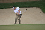 Louis Oosthuizen plays his 3rd shot from a greenside bunker at the 11th hole during Day 2 Friday of the Abu Dhabi HSBC Golf Championship, 21st January 2011..(Picture Eoin Clarke/www.golffile.ie)