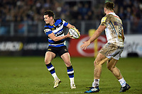 Freddie Burns of Bath Rugby in possession. Aviva Premiership match, between Bath Rugby and Exeter Chiefs on March 23, 2018 at the Recreation Ground in Bath, England. Photo by: Patrick Khachfe / Onside Images