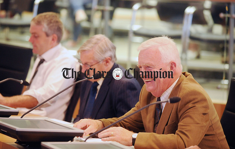 Cllr Christy Curtin at the council meeting on Monday during which he was elected the new Mayor of Clare. Photograph by Declan Monaghan