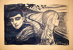 'Separation 2' 1896, lithograph by Edvard Munch 1863-1944, Kode 3 art gallery Bergen, Norway