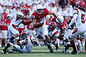 26 September 2009: Nebraska tight end Mike McNeill gets 13 yards and the first down in first quarter action against Louisiana-Lafayette at Memorial Stadium, Lincoln, Nebraska. Nebraska defeats Louisiana Lafayette 55 to 0.