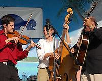 Audie Blaylock & Redline take the Hollywood Beach Theatre stage during the Red, White & Bluegrass Festival 2009 in Hollywood, Florida.