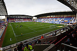 Wigan Athletic 1 Shrewsbury Town 0, 21/11/2015. DW Stadium, League One. The DW Stadium. Wigan Athletic earned a narrow 1-0 at home to Shrewsbury Town. Wigan competed in the Premier League from 2005 to 2013. They won the 2013 FA Cup. The club also embarked on its first European campaign during the 2013–14 UEFA Europa League. The DW Stadium, interior view. Photo by Paul Thompson