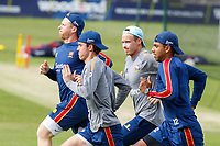 Essex players sprint during Essex CCC Training at The Cloudfm County Ground on 22nd July 2020