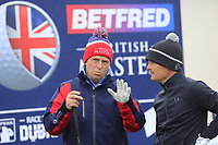 Soren Kjeldsen (DEN) and team members during the Hero Pro-am at the Betfred British Masters, Hillside Golf Club, Lancashire, England. 08/05/2019.<br /> Picture Fran Caffrey / Golffile.ie<br /> <br /> All photo usage must carry mandatory copyright credit (&copy; Golffile | Fran Caffrey)