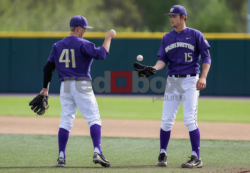 The University of Washington men's baseball team plays Oregon State University Sunday, April 21. (Photography by Red Box Pictures)