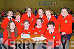 BRAINS: Putting their heads together at the Clanmaurice Credit Union NS Table Quiz final at Causeway Comprehensive Gym on Sunday were pupils from Bouleenshere NS Ballyheigue Front l-r: Ella O'Regan, Sarah Kearney, Luke Mc.Crohan and Peter Fitzgerald. Back l-r: David O'Sullivan, Darragh Dennehy, Yasemin Kahraman, Adam O'Leary, Brian Styles and Aiden Reidy.