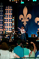 Montreal (Qc) CANADA -  June 24, 1994 - Quebec national Holiday (Saint-Jean-Baptiste) - Robert Charlebois