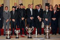 MADRI, ESPANHA, 05 DEZEMBRO 2012 - PREMIACAO MELHORES DO ESPORTE ESPANHOL - Realeza e premiados durante cerimonia de entrega do Premio Melhores do Esporte Espanhol, no Palacio El Pardo em Madri, capital da Espanha, nesta quarta-feira, 19. (FOTO: ALEX CID FUENTES / ALFAQUI / BRAZIL PHOTO PRESS).
