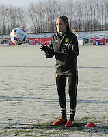 20170118 - TUBIZE , Belgium : Belgian Tessa Wullaert pictured during a training session of the Belgian national women's soccer team Red Flames during their winter camp, on the 18 th of January in Tubize. PHOTO DIRK VUYLSTEKE | Sportpix.be