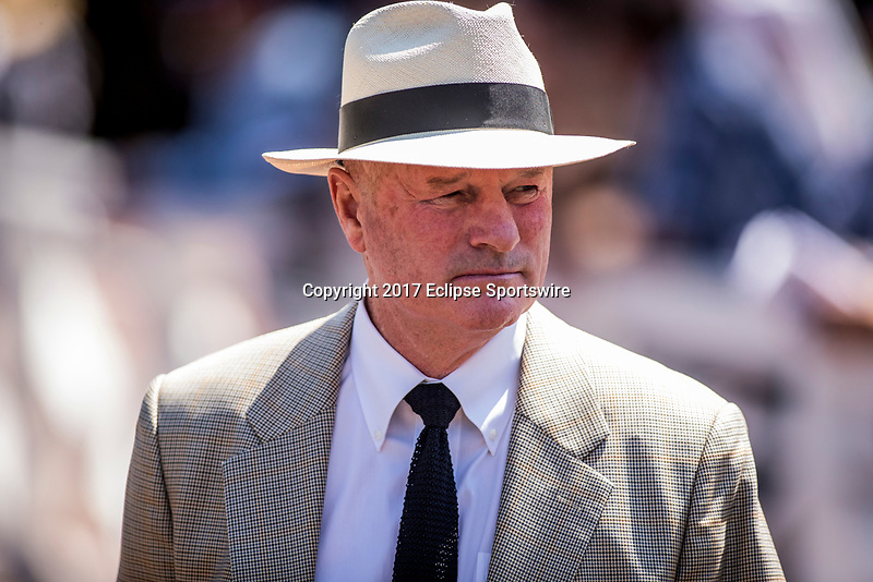 ARCADIA, CA - MAY 27: Richard Mandella at Santa Anita Park  on May 27, 2017 in Arcadia, California. (Photo by Alex Evers/Eclipse Sportswire/Getty Images)