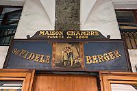 Europe/France/Rhône-Alpes/73/Savoie/Chambéry:  Pâtisserie: Au Fidèle Berger - L'enseigne - <br /> Rue de Boigne