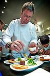Chef Paul Boehmer.Venison Tartare and Egg Yoke