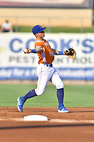Tennessee Smokies second baseman Nico Hoerner (5) warms up during a game against the Biloxi Shuckers on August 10, 2019 in Kodak, Tennessee. The Shuckers defeated the Smokies 7-3. (Tony Farlow/Four Seam Images)