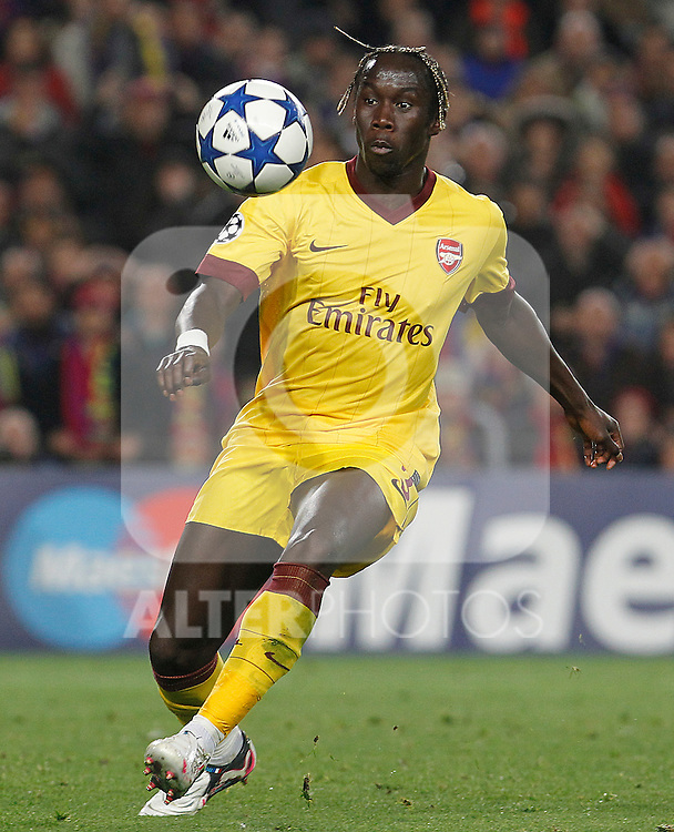 Arsenal's Bacary Sagna during UEFA Champions League match.March 8,2011. (ALTERPHOTOS/Acero)