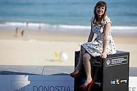 """Actress Natalia de Molina posses in the photocall of the """"Vivir es facil con los ojos cerrados"""" film presentation during the 61 San Sebastian Film Festival, in San Sebastian, Spain. September 24, 2013. (ALTERPHOTOS/Victor Blanco) /NortePhoto /Nortephoto"""