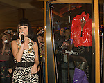 Multi platinum rockstar Katy Perry, honored with a case dedication inside the Hard Rock Hotel & Casino displaying an outfit from the video of her #1 single ?Hot N Cold?.