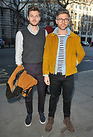 Jim Chapman and Darren Kennedy at the LFW (Men's) a/w2018 Chistopher Raeburn catwalk show, BFC Show Space, The Store Studios, The Strand, London, England, UK, on Sunday 07 January 2018.<br /> CAP/CAN<br /> &copy;CAN/Capital Pictures
