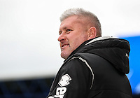Blackpool's manager Terry McPhillips relaxing before the match <br /> <br /> Photographer Andrew Kearns/CameraSport<br /> <br /> The EFL Sky Bet League One - Portsmouth v Blackpool - Saturday 12th January 2019 - Fratton Park - Portsmouth<br /> <br /> World Copyright © 2019 CameraSport. All rights reserved. 43 Linden Ave. Countesthorpe. Leicester. England. LE8 5PG - Tel: +44 (0) 116 277 4147 - admin@camerasport.com - www.camerasport.com