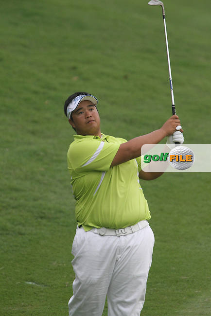 Kiradech Aphibarnrat (THA) on the 16th during the resumed Round 3 of the 2013 Maybank Malaysian Open, Kuala Lumpur Golf and Country Club, Kuala Lumpur, Malaysia 24/3/13...(Photo Jenny Matthews/www.golffile.ie)