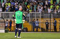 ATENÇÃO EDITOR: FOTO EMBARGADA PARA VEÍCULOS INTERNACIONAIS - SÃO PAULO, SP, 11 DE DEZEMBRO DE 2012 - JOGO DE DESPEDIDA DO GOLEIRO MARCOS - Goleiro Marcos durante partida de despedida do goleiro Marcos, entre o time do Palmeiras de 1999 Campeão da Libertadores contra a Seleção Brasileira de 2002 Campeã do Mundo. A partida foi disputada na noite desta terça feira (11) no Estádio do Pacaembu em São Paulo. FOTO: LEVI BIANCO - BRAZIL PHOTO PRESS