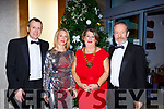 Mark and Niamh Culloty, Bernadette Randles and Sean Kelly MEP at the IHF ball in the Aghadoe Hotel on Friday night