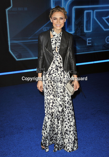 Samaire Armstrong   - Tron: Legacy Premiere at the El Capitan Theatre In Los Angeles.
