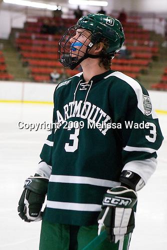 Connor Goggin (Dartmouth - 3) -  The Dartmouth College Big Green defeated the Harvard University Crimson 6-2 on Sunday, November 29, 2009, at Bright Hockey Center in Cambridge, Massachusetts.