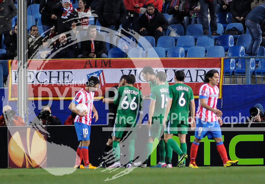 14/02/2013. Madrid. Spain. Vicente Calderon Stadium. UEL. Uefa Europa League. Atletico de Madrid 0 vs 2 Rubin Kazan. Photo: Eduardo Dieguez/ DyD Fotografos