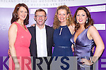 Kerry suppliers Liz Horgan(Finesse Bridal-Listowel), Pat O'Neill(Style Suite-Killarney) Mag Healy (Finesse Bridal-Listowel) and Elaine Kennedy Photography(Dingle) who were finalists in the Weddings Online.ie 2013 Awards held on Monday night in Clontarf Castle, Dublin.