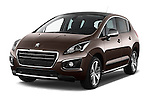 Front three quarter view of a 2014 Peugeot 3008 5 Door SUV 2WD