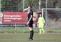 Schiedsrichterin Felina Ditesch (Langen) - 07.04.2019: SKV Büttelborn vs. TSV Lengfeld, Gruppenliga Darmstadt
