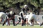 Palos Verdes, CA 10/02/09 - The Vista Murietta Broncos visited the Peninsula Panthers in a non-league contest, won 43-21 by Vista Murietta.  In action are Brock Dale (#7), Mitch Seymour (#75)