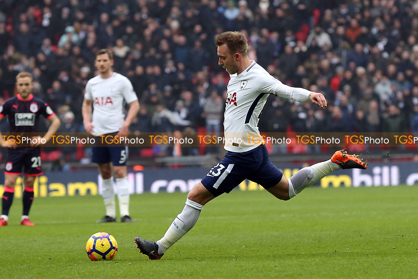 Christian Eriksen of Tottenham Hotspur during Tottenham Hotspur vs Huddersfield Town, Premier League Football at Wembley Stadium on 3rd March 2018