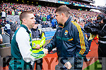 Marc Ó Sé, and Eamon Fitzmaurice, Kerry Manager after defeating Tyrone in the All Ireland Semi Final at Croke Park on Sunday.