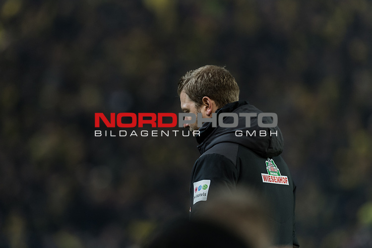 05.02.2019, Signal Iduna Park, Dortmund, GER, DFB-Pokal, Achtelfinale, Borussia Dortmund vs Werder Bremen<br /> <br /> DFB REGULATIONS PROHIBIT ANY USE OF PHOTOGRAPHS AS IMAGE SEQUENCES AND/OR QUASI-VIDEO.<br /> <br /> im Bild / picture shows<br /> Florian Kohfeldt (Trainer SV Werder Bremen), <br /> <br /> Foto © nordphoto / Ewert