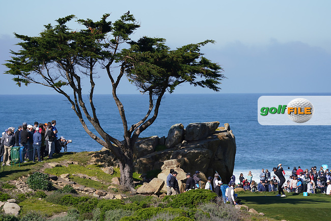 Jordan Spieth (USA) at Monterey Peninsula during the second round of the AT&T Pro-Am, Pebble Beach, Monterey, California, USA. 06/02/2020<br /> Picture: Golffile | Phil Inglis<br /> <br /> <br /> All photo usage must carry mandatory copyright credit (© Golffile | Phil Inglis)