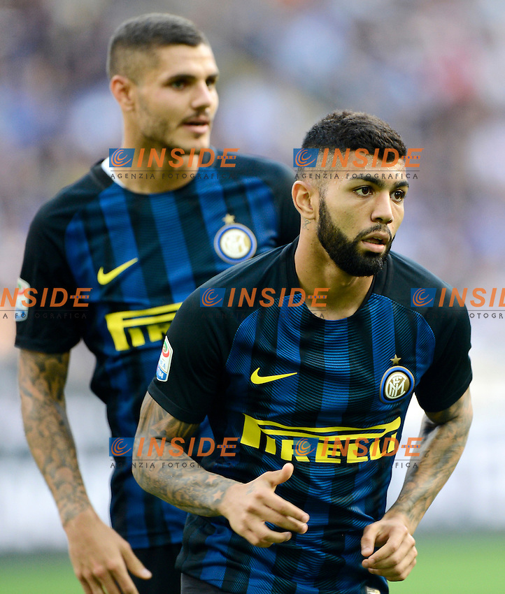 Gabriel Barbosa Gabigol e Mauro Icardi Inter<br /> Milano 25-09-2016 Stadio Giuseppe Meazza - Football Calcio Serie A Inter - Bologna. Foto Giuseppe Celeste / Insidefoto